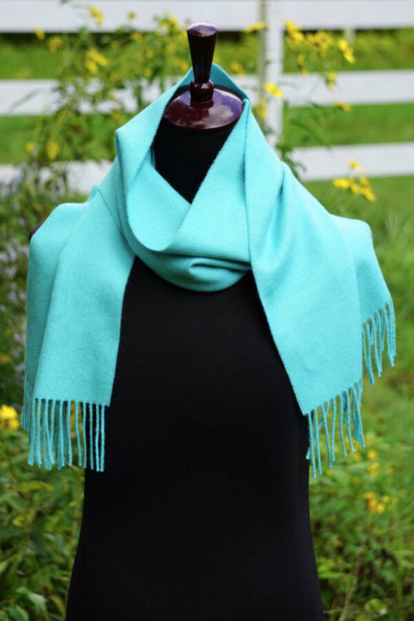 Alpaca Scarf in Cyan Blue
