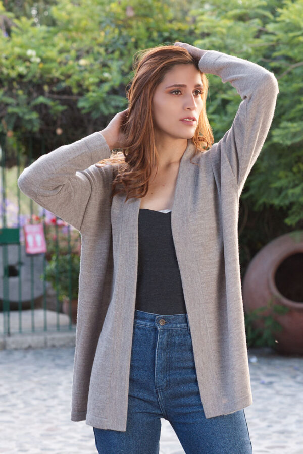 Women's Pure Baby Alpaca Open Cardigan