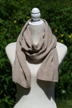 Women's and Men's alpaca knit scarf