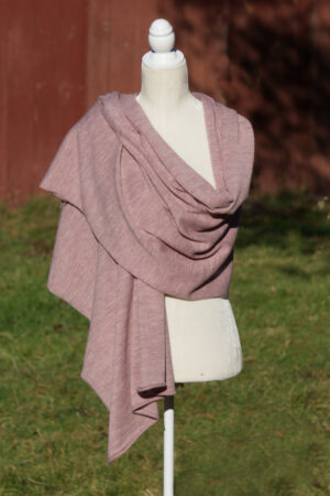 Pure Baby Alpaca Shawl and Wrap in Blush Color