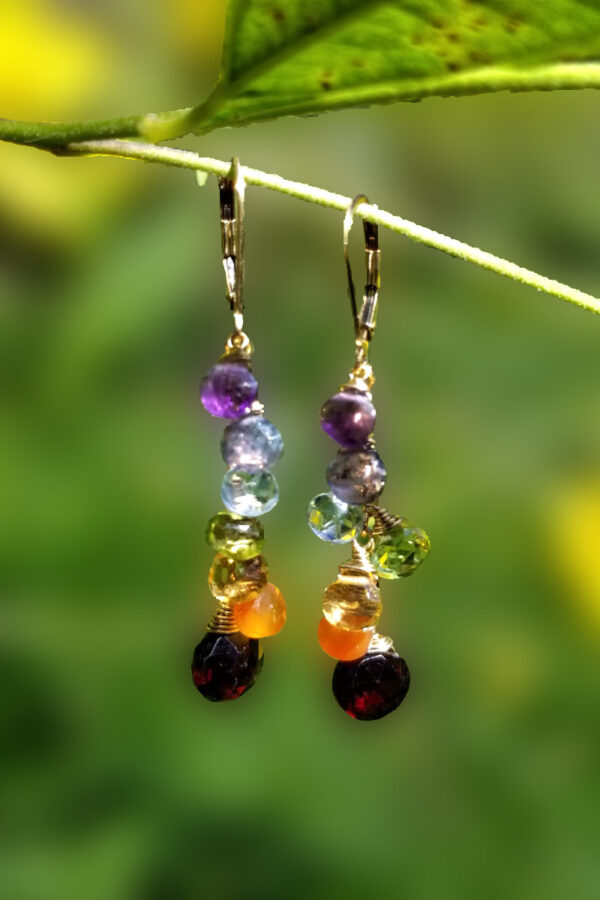 Multi-Colored Gemstone Earrings