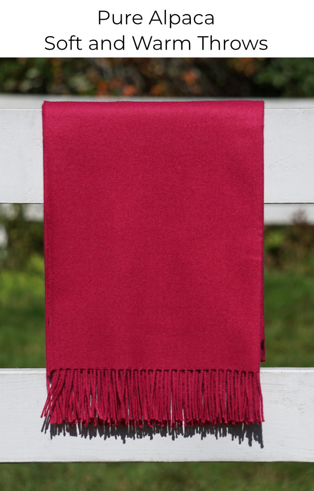 Shop our alpaca blankets and throws in many colors
