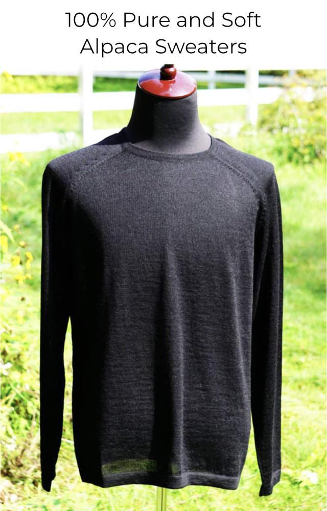 Shop men's alpaca sweaters.