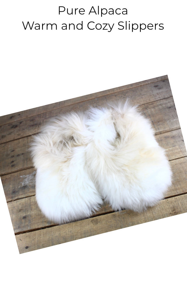 Shop our warm and cozy alpaca slippers
