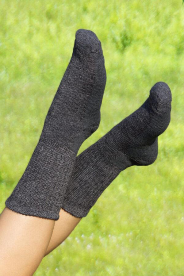 Diabetic Alpaca Crew Socks. Therapeutic Alpaca Crew Socks.