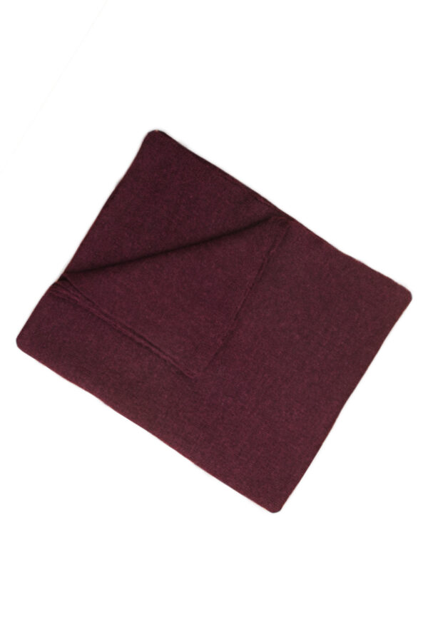 Alpaca Blanket in burgundy color