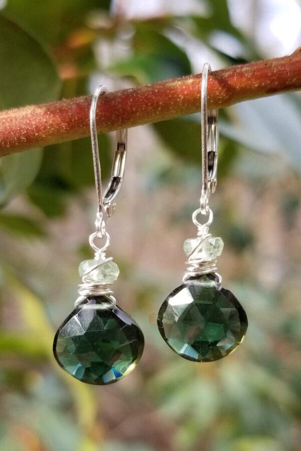 Green Quartz Sterling Silver Earrings