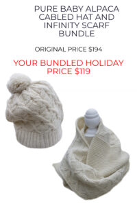 Pure Baby Alpaca Hat and Scarf Set