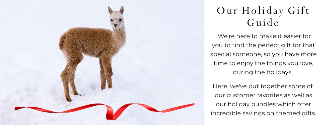 Mt. Caesar Alpacas Holiday Gift Guide