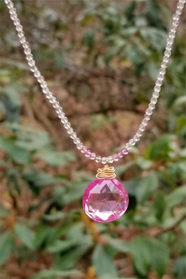 Spectacular Pink Topaz Necklace