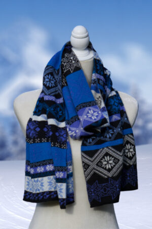 Women's, Men's and Teen's Alpaca Scarf in Nordic Pattern