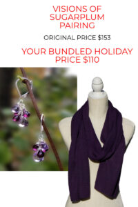 Big Savings On Our Pure Baby Alpaca Scarf and Gemstone Earrings Bundle