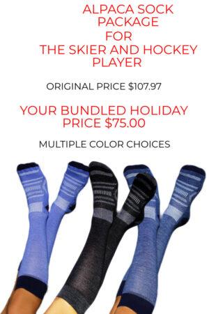 Big Savings on our Alpaca Ski Sock Bundles and Alpaca Hockey Sock Bundles