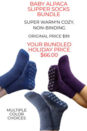You get a pair for free when you purchase our slipper socks bundle