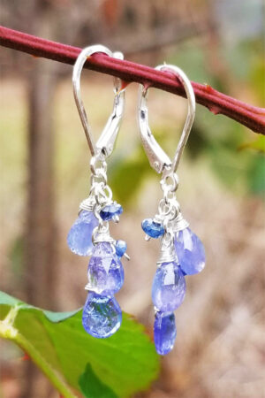 Tanzanite Gemstone Sterling Silver Earrings