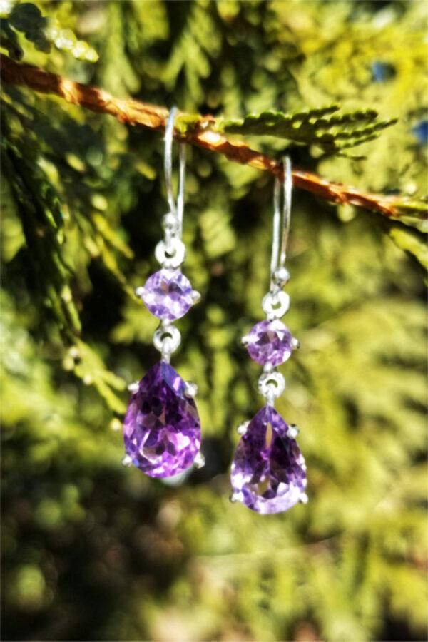 4.9 Carat Amethyst Gemstone Earrings