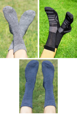 Save $27 on our most popular alpaca socks in a bundle of three.