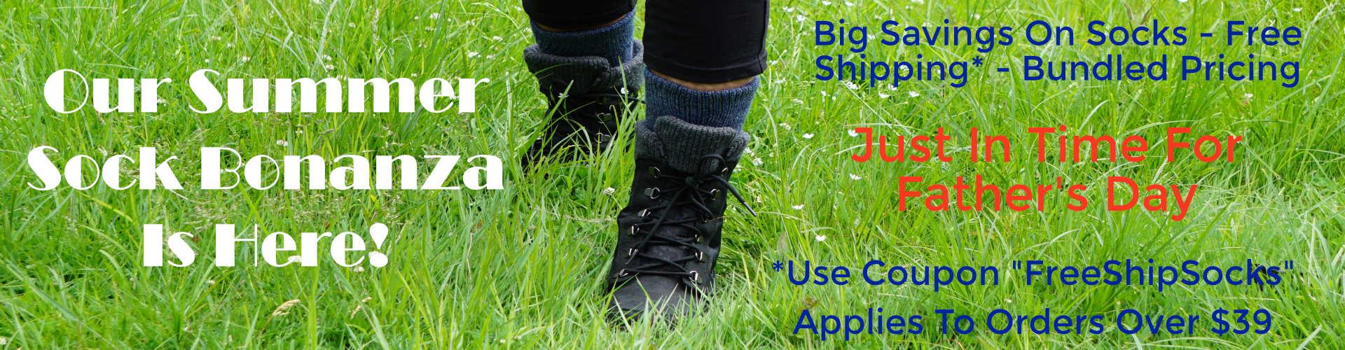 Summer Alpaca Sock Bonanza. Huge Savings On Alpaca Socks.
